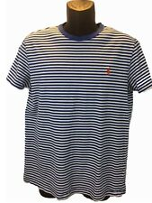 Polo Ralph Lauren Mens T Shirt Short Sleeve Collarless Stripes Cotton Slim L