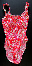 NEW St Topez One Piece Floral Red Swimsuit SZ 7