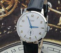 Watch START Mechanical Men's Wristwatch 2MCHZ 17 JEWELS Vintage Style USSR