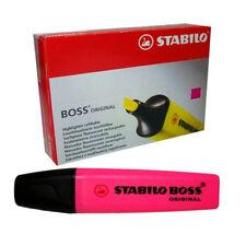 Pink Stabilo Boss Resaltador Plumas Caja 10 * Nuevo en Caja 2mm/5mm paquete de valor original