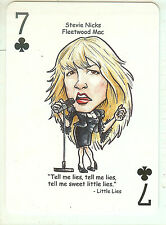 STEVIE NICKS & FLEETWOOD MAC R&R HALL OF FAME SINGLE SWAP PLAYING CARD