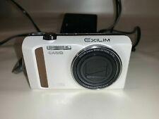 Casio HS EXILIM EX-ZR400 Digitalkamera 16,1mp HDMI Weiß Voll funktionsfähig!