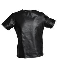 Leder Shirt schwarz Größe 3XL