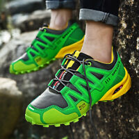 Men's Slip On Sports Outdoor Sneakers Running Climbing Hiking Shoes Big Size12.5