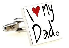 Dad I Love My Dad Cufflinks Groom Father Wedding Fancy Gift Box Free Ship USA