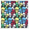 Multi-Coloured Skulls Crossbones Bandana Headwear Scarf Wrist Wrap Headtie B4