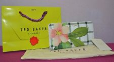 Ted baker Floral Wallet London Secret Trellis Check Matinee Cream New Tag $159