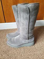 £225 UGG KARA GREY TALL SHEEPSKIN BOOTS UK6 EU49 US8