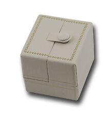 LUSSO Bianco in Similpelle Doppia Porta Orecchino BOX