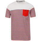 hombre rojo y azul rayas camiseta de Tom Franks TALLA XXL NUEVO CON ETIQUETA