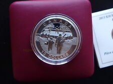 2013 Canada Hockey 1/2oz Fine Silver Matte Proof Coin-9th In Canadian O Series