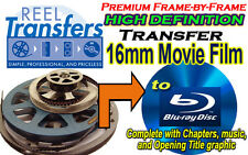 High Definition transfer of 16mm film to Blu-Ray (premium frame-by-frame)