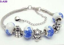 beautiful pretty european 1pc beautiful charm bracelet fit porcelain beads S-A39
