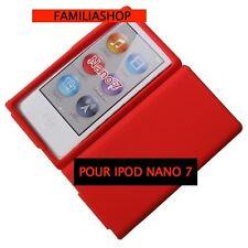 Housse etui coque silicone rouge pour iPod Nano 7 7G + Film de protection écran