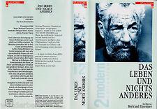 """VHS """" Bertrand Tavernier`s - Das Leben und Nichts Anderes (1988) Philippe Noiret"""