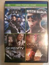 * Doom + Pitch Black + Serenity + Hellboy Ii - 4-Film Pack (Dvd) *Ships Fast!
