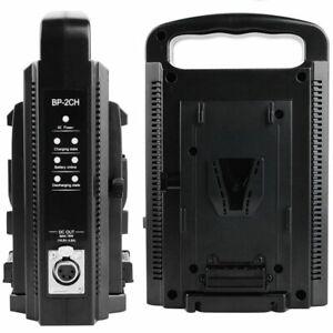 V-Lock V-Mount Ladegerät Dual Slot Dual Channel Schnellladung Für V-Lock Akku