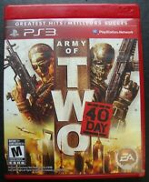 ARMY OF TWO THE 40TH DAY GREATEST HITS PS3 SONY PLAYSTATION 3