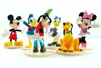 1 Set of 6 Disney Family Mickey Minnie Donald Daisy Goofy Pluto Figure Toy 8-9cm