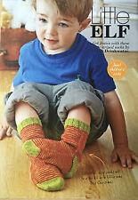 KNITTING PATTERN Childrens Christmas Striped Elf Socks Girls Boys Lang PATTERN