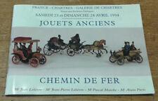 Catalogue de vente, Chartres, 22-23 avril 94 (Jouets anciens, chemin de fer)