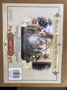GRANDEUR NOEL MUSICAL ANIMATED WATERGLOBE COLLECTORS EDITION 2002