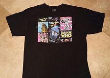 Dr Who Short Sleeve Cartoon Graphic Tee Shirt 100% Cotton Black XL