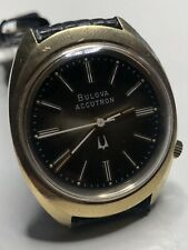 Vintage Bulova Accutron Watch Root Beer Stainless Wristwatch 2191.10 Tuning Fork