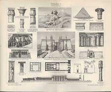 Lithografien 1905: Architektur I-XII. Baukunst Barock Rokoko Renaissance Gotik