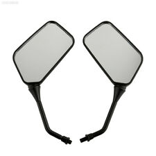 0C25 1PAIR BLACK MOTORCYCLE MOTORBIKE BIKE SIDE REAR VIEW MIRRORS 10mm Safty