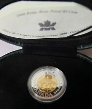 2000 MILLENNIUM PROOF SILVER POLAR BEAR $ 2 COIN