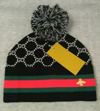 Casual Style Winter Hat GG Black Beanie Cap Unisex NEW