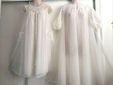 New listing Vintage Vanity Fair Creamy White~ Chiffon Peignoir & Vintage Nightgown.Sml/med