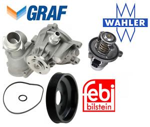 OEM Water Pump Thermostat Pulley Graf Wahler Febi BMW V8 550i 650i 750Li 750i X5