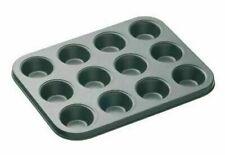 12 DEEP CUP Muffin Tin Non Stick Pan Tray Mould Bake Cupcake Tray UK Stock