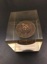 The American Rhododendron Society Medal Coin Plexiglass Paperweight NY Chapter