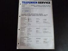 Original Service Manual  Telefunken HP 830 T HP 250