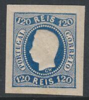 Portugal - 1866, 120r Blue - 4 Margins - M/M - SG 46 - Cat £475