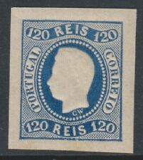 Portugal - 1866, 120r Blue - 4 Margins - M/m - SG 46 - Cat