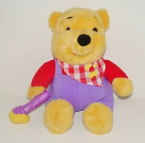 (clean & works!) 1999 MATTEL Winnie The Pooh Honey Talking Animated Plush
