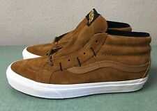Vans SK8-Hi Mid Reissue MTE All Weather Sudan Brown Mens Sz 10 Sneakers NEW!!!