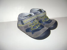 STRIDE RITE ISAIAH TODDLER BOYS ANKLE SHOES size 5.5 M GRAY SOFT SOLE LEATHER