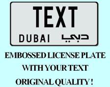 Dubai Arabic License Plate Arab Number Tag USA UAE US Customized YOUR TEXT