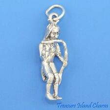 NATIVE AMERICAN INDIAN SNAKE DANCER 3D .925 Solid Sterling Silver Charm USA MADE