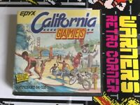 Commodore 64 Disk Disc California Games Rare Retro gaming Game W/ Manual Boxed