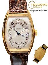Franck Muller Chronometro Curvex 5850 18K Yellow Gold Automatic 32X45mm Watch