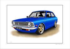 TOYOTA   KE20   COROLLA  COUPE   LIMITED EDITION CAR PRINT AUTOMOTIVE ARTWORK