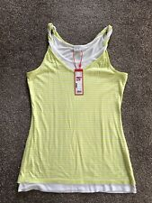 Esprit Double Layer Sleeveless Striped Top Size M, New With Tag