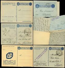 ITALY 1942-43 MILITARY STATIONERY MINT + USED...5 ITEMS