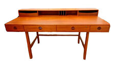 Lovig Nielsen Vtg Mid Century Danish Modern Teak Wood Flip Desk Denmark Dansk